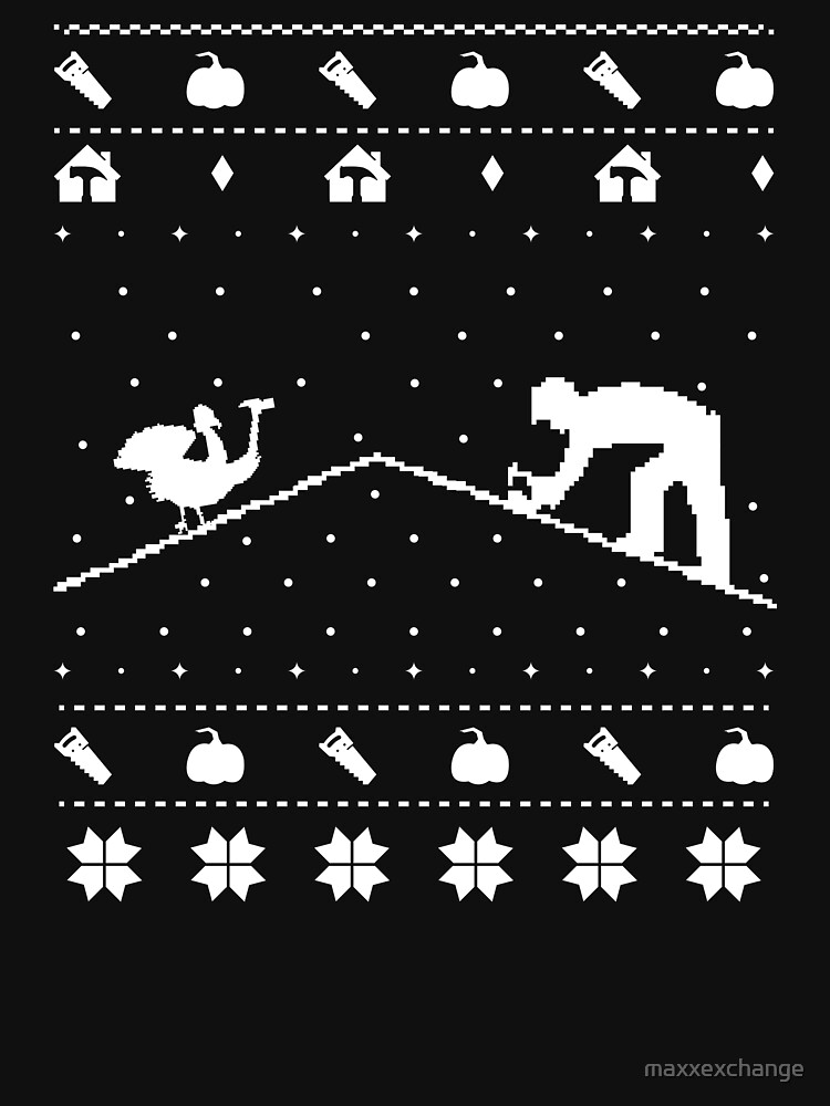 Ugly Christmas Sweater Thanksgiving Roofer Novelty Gift. by maxxexchange