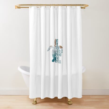 Into the Ocean, I go to lose my mind & find my soul Shower Curtain