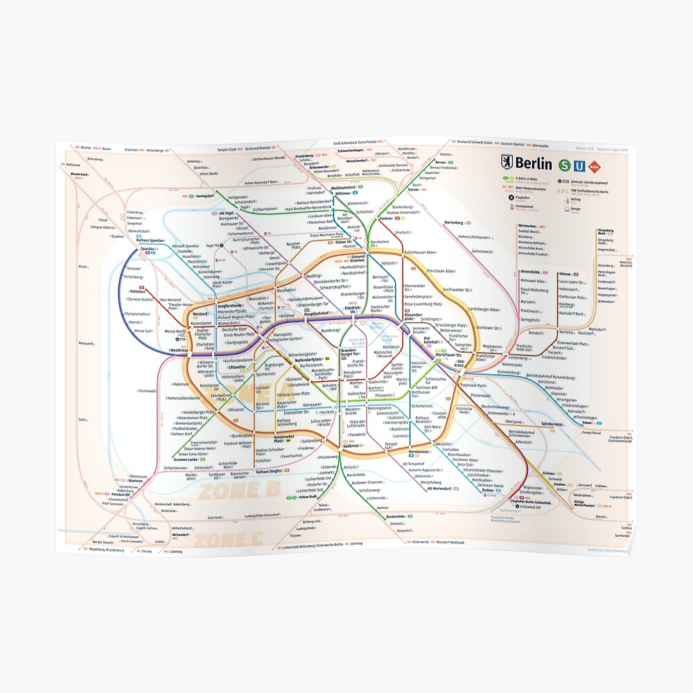 New Berlin rapid transit route map (August 4, 2019) Poster