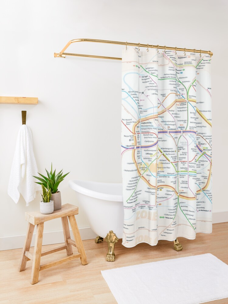 Alternate view of New Berlin rapid transit route map (August 4, 2019) Shower Curtain