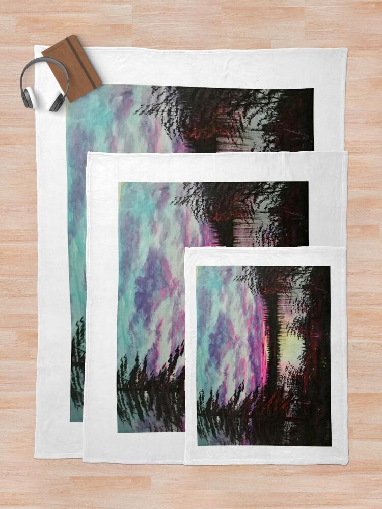 Alternate view of sunset  Throw Blanket