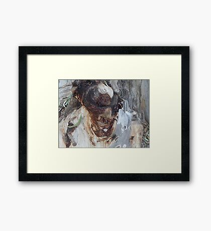 The Man of the Woods Framed Print