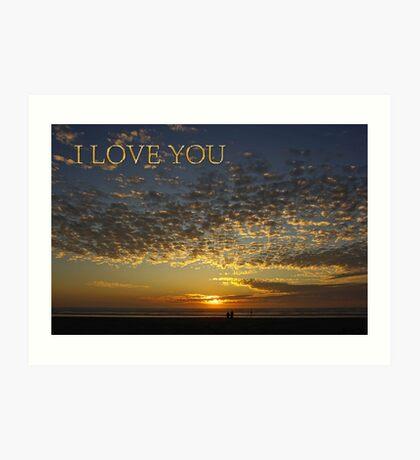 romantic sunset i love you card Art Print