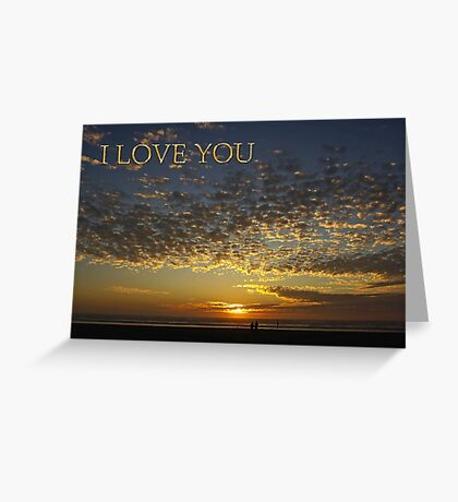romantic sunset i love you card Greeting Card