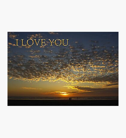 romantic sunset i love you card Photographic Print