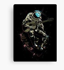 Guitarist Spaceman Canvas Print