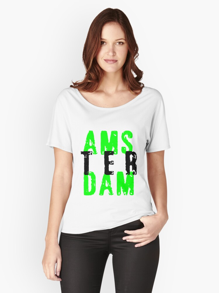 AMSTERDAM Women's Relaxed Fit T-Shirt Front