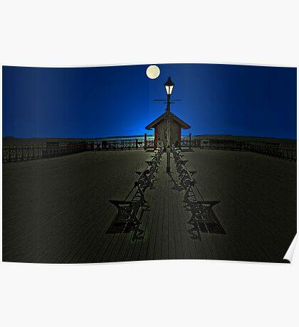 The Moonlit Pier Poster
