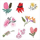 Australian Native FloraSticker Sheet - Aussie Stickers - Mini Floral Stickers by thatsgraphic
