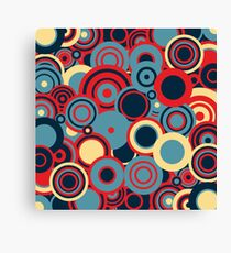 Circledelic - blue/red/cream Canvas Print