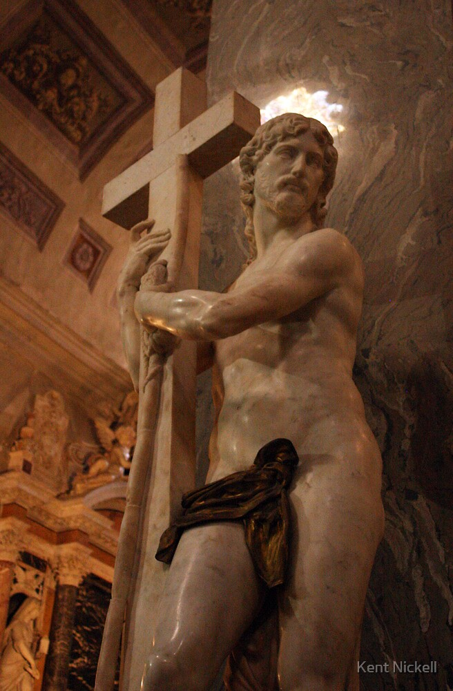 Michelangelo's Jesus Bearing the Cross by Kent Nickell