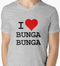 I Love BUNGA BUNGA Men's V-Neck T-Shirt