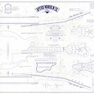 Apitius Mandolin Blueprint Poster - Distressed Version by ApitiusMandos