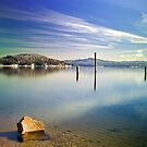 Winter color  on Lake Coeur d' Alene by Steve Biederman