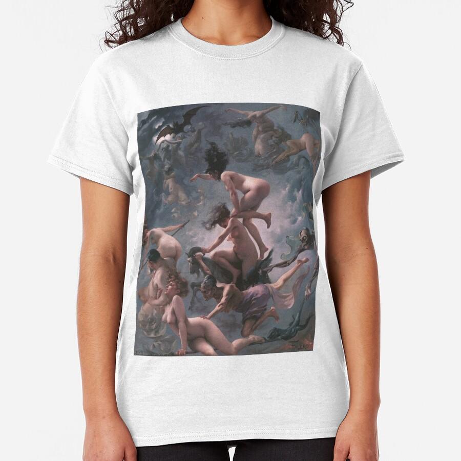 Luis Ricardo Falero - Witches going to their Sabbath (1878) Classic T-Shirt
