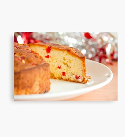 Christmas Fruit Cake Canvas Print