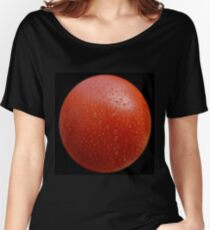 Red on black Women's Relaxed Fit T-Shirt