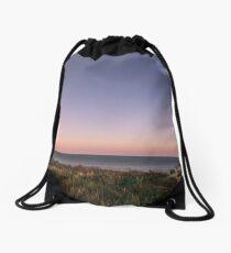 Beautiful Sunset at the Beach Drawstring Bag