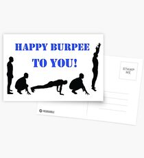 Happy Burpee To You! Postcards