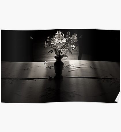 You left me Flowers Poster