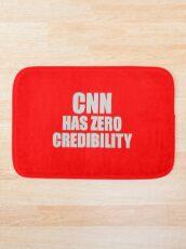 CNN HAS ZERO CREDIBILITY Bath Mat