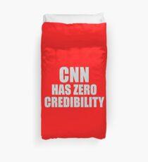 CNN HAS ZERO CREDIBILITY Duvet Cover