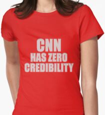 CNN HAS ZERO CREDIBILITY Fitted T-Shirt