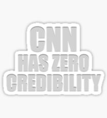 CNN HAS ZERO CREDIBILITY Glossy Sticker