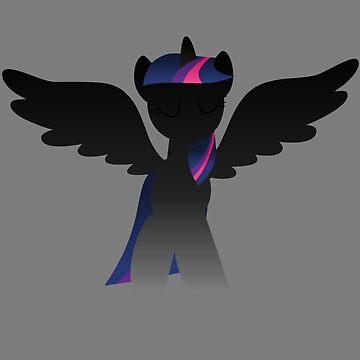 Monochrome Alicorn Twilight by MasterS6