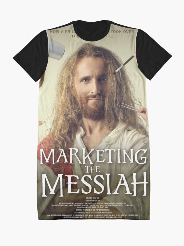 Alternate view of Marketing The Messiah Poster Graphic T-Shirt Dress