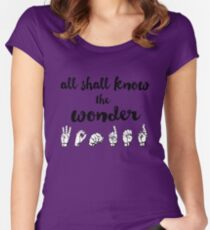 All Shall Know the Wonder - The Song of Purple Summer - Spring Awakening Women's Fitted Scoop T-Shirt