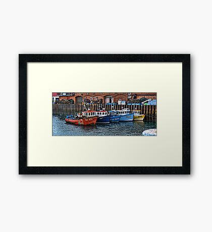 Crab Boats, Scarborough. Framed Print