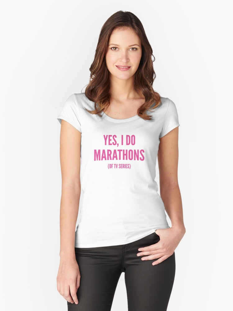 Yes, I Do Marathons Women's Fitted Scoop T-Shirt Front