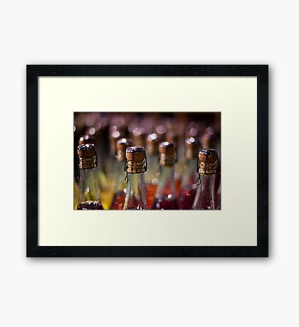 army of champagne Framed Print