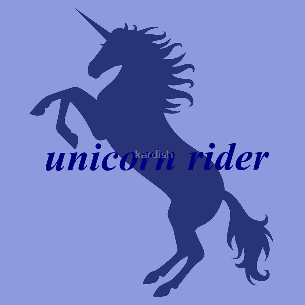 Unicorn Rider Blue by kardish