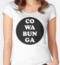 cowabunga Women's Fitted Scoop T-Shirt