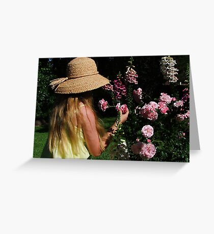 Taking Time to Smell The Roses! Greeting Card
