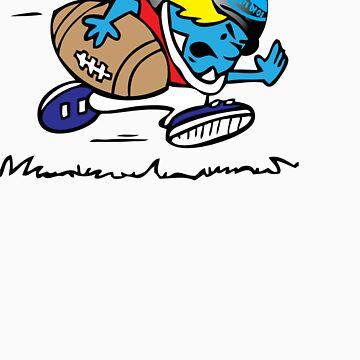 usa football tshirt by rogers bros by scottishtshirts
