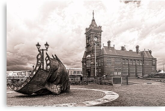 Cardiff Bay Mono by Steve Purnell