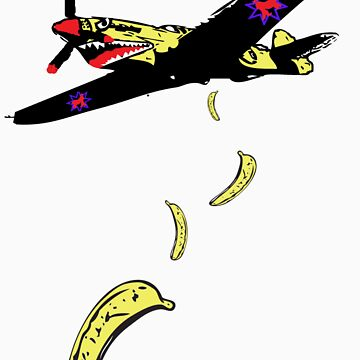 banana plane tshirt by rogers bros construction co by usacali