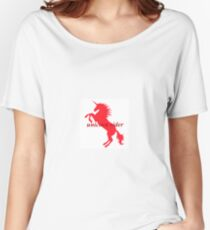 Unicorn Rider Red Women's Relaxed Fit T-Shirt