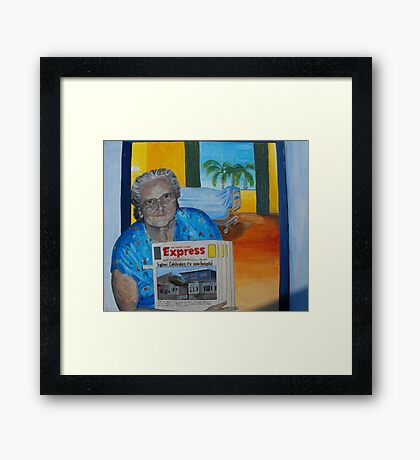 It's good to know that with change some things stay the same, Thank you Betty. Framed Print