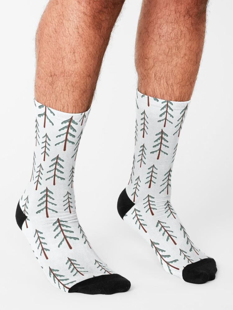 Alternate view of Fir tree doodle wood  Socks