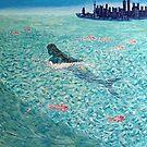 Mermaid against the Tide by sandidobe