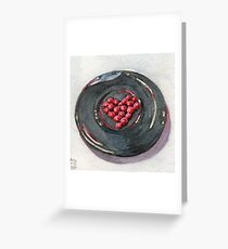 Red Hots on Plate Greeting Card