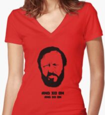 Slavoj Žižek - Portrait Women's Fitted V-Neck T-Shirt