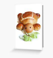 Turtle Bread Greeting Card