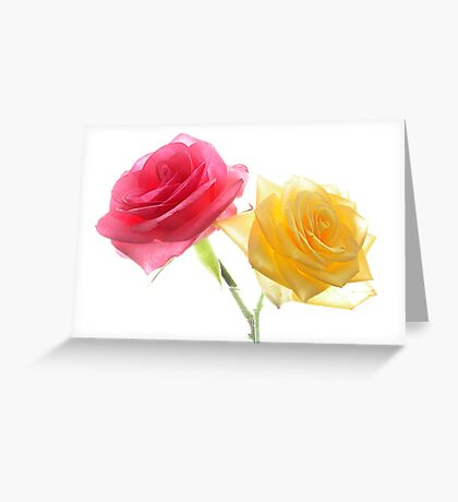 Two Lovers As roses Greeting Card