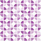 Geometric Pattern: Quarter Circle: Light/Purple by * Red Wolf