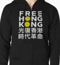 free hongkong t-shirt Zipped Hoodie